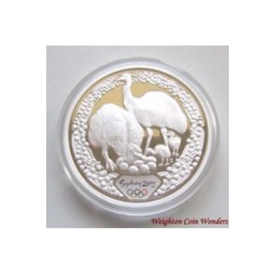 2000 $5 Silver Proof - Sydney 2000 - Emu and Wattle